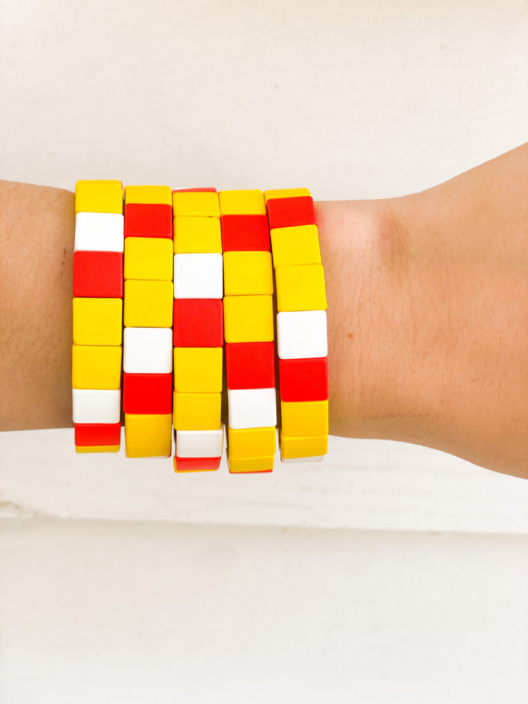 Color Block Bracelets