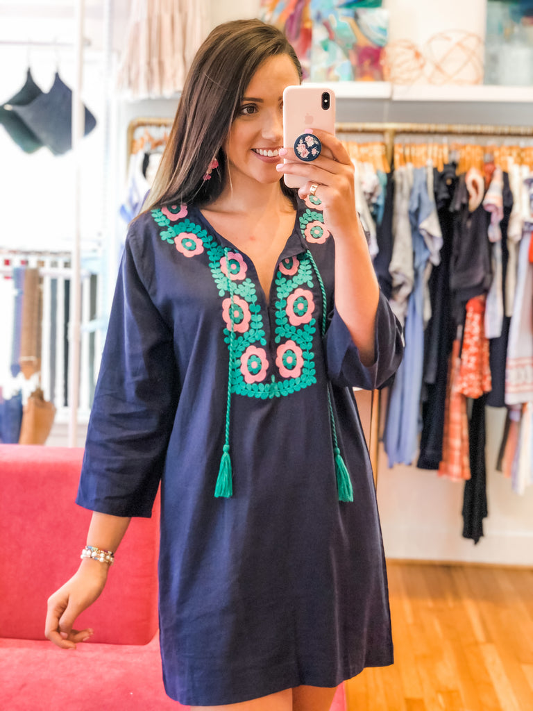 The Rest Doesn't Matter Embroidered Tunic