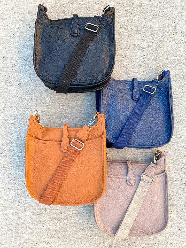 The Essential Messenger- Beige, Black, Camel, and Navy***