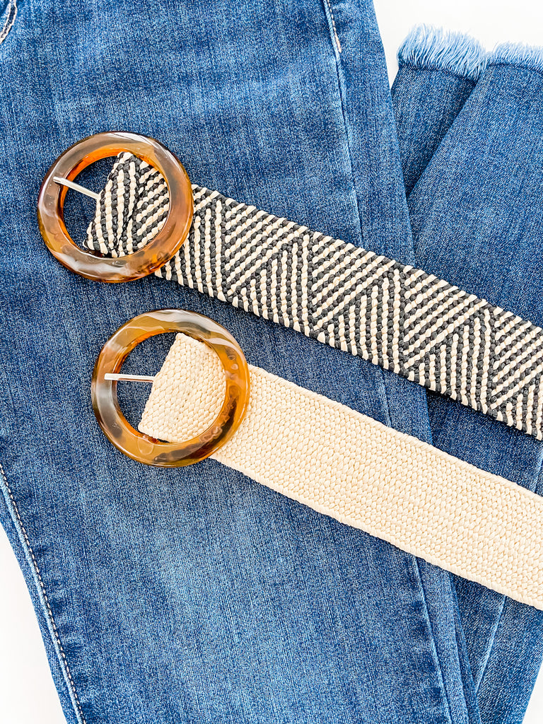 Elastic Tweed Belts