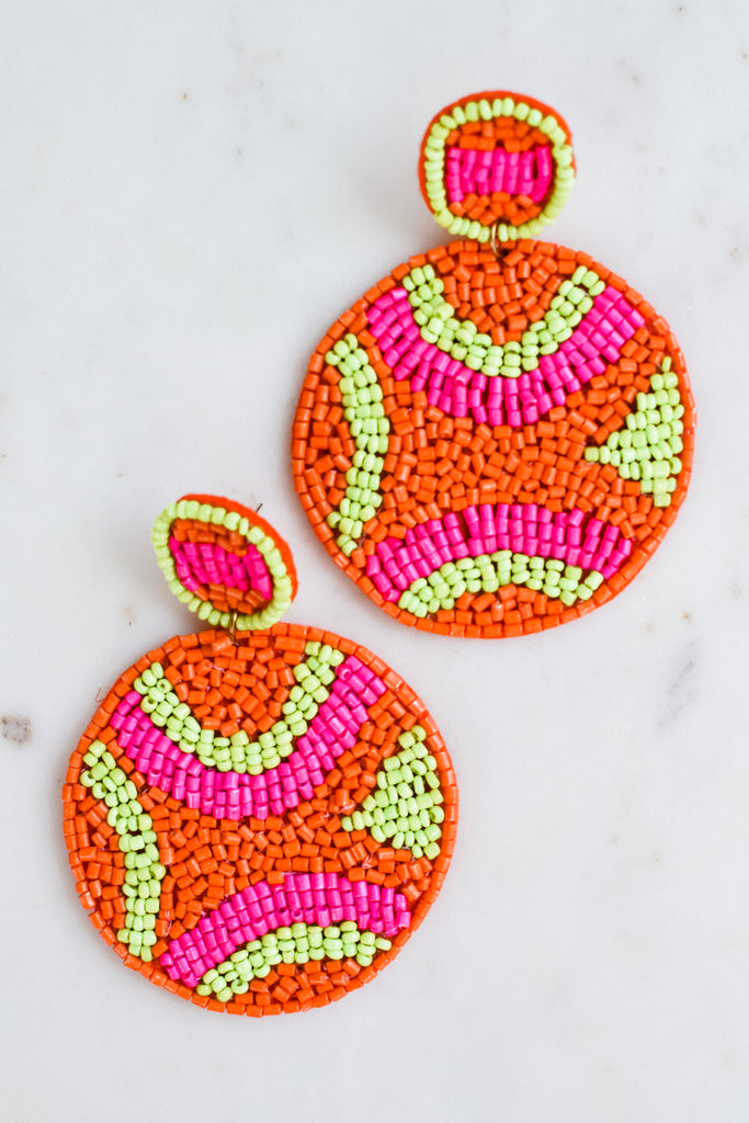 What I Should Do Earrings- Coral