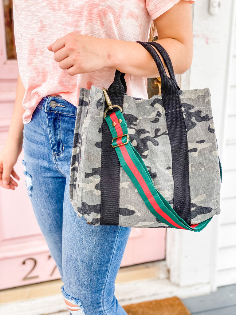 PS Canvas Bag Tote- Camo***
