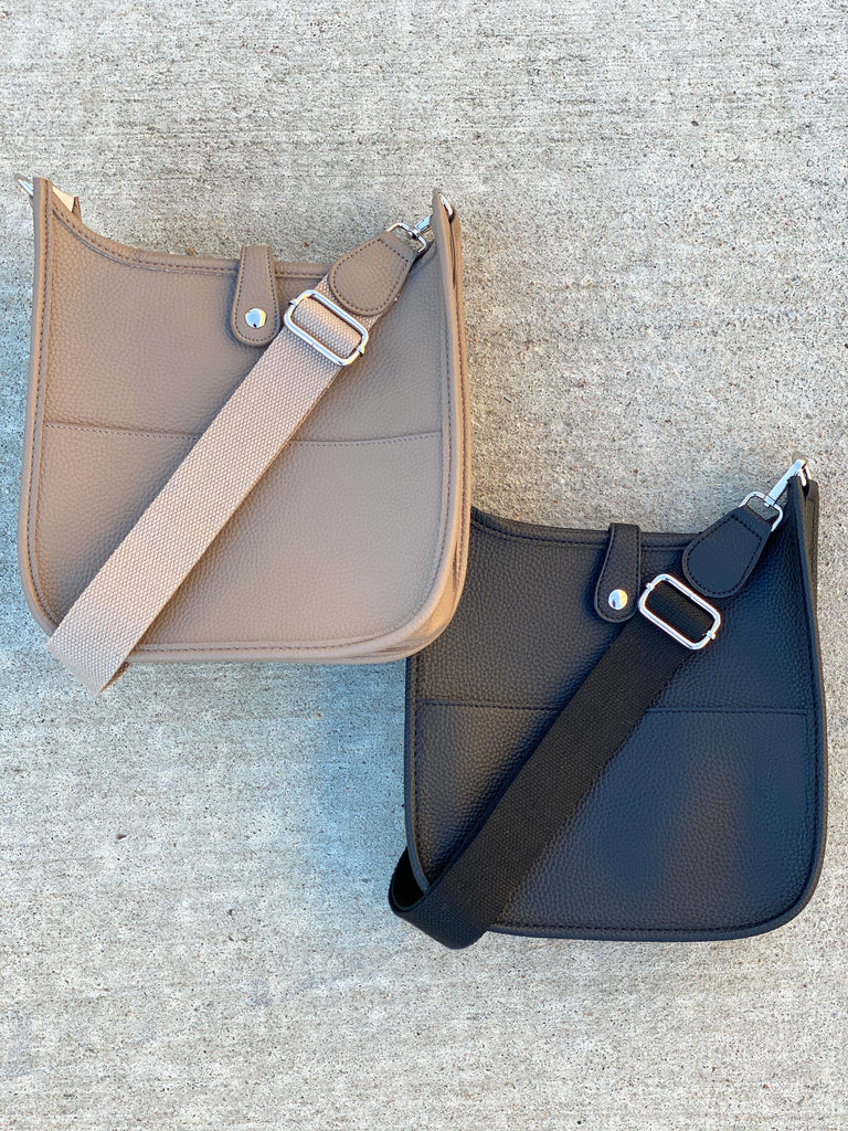 The Mini Essential Messenger- Beige and Black***