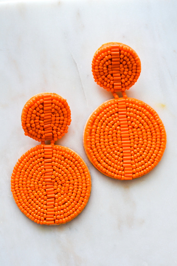 With You Earrings- Orange