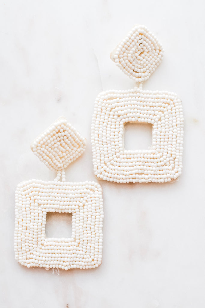 Used To This Earrings- White