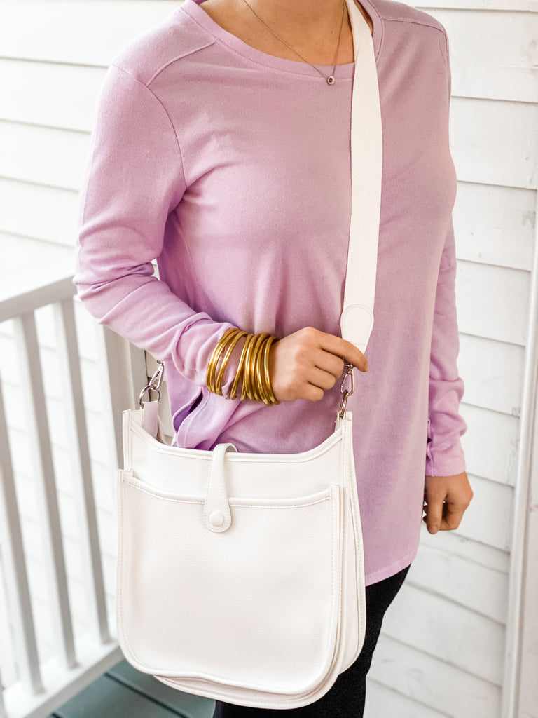 The Essential Messenger- White and Pink***