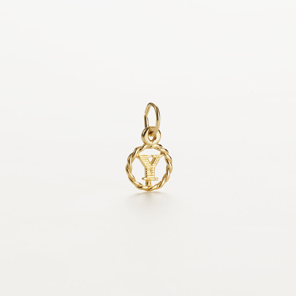 Letter Y 9kt solid gold charm