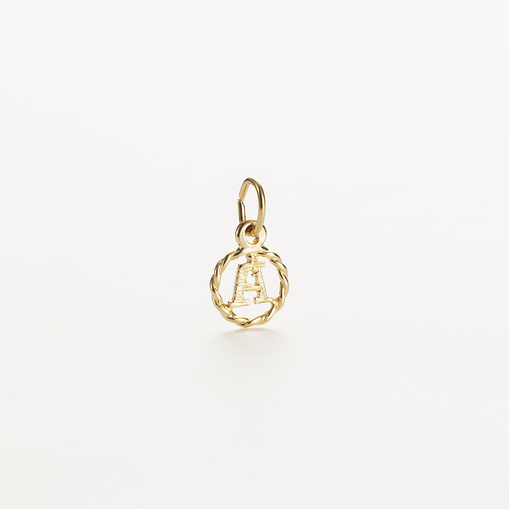 Letter A 9kt solid gold charm