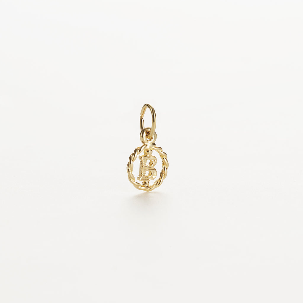 Letter B 9kt solid gold charm