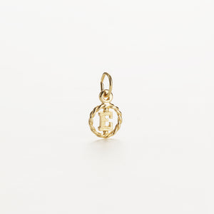 Letter E 9kt solid gold charm