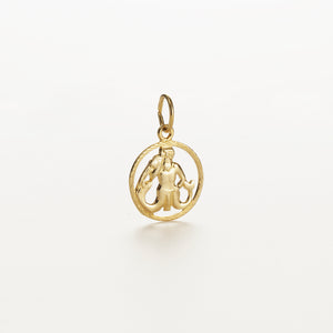Recreational Studio Cut Out-Gold Round Aquarius