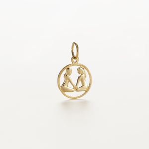 Recreational Studio Cut Out Gold Round Gemini