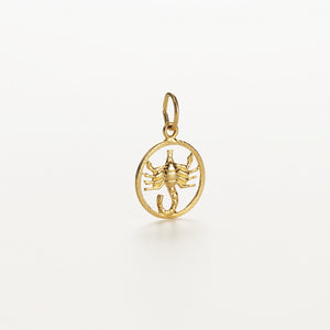Recreational Studio Cut Out Gold Round Scorpio