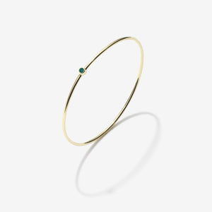 MAY EMERALD BANGLE