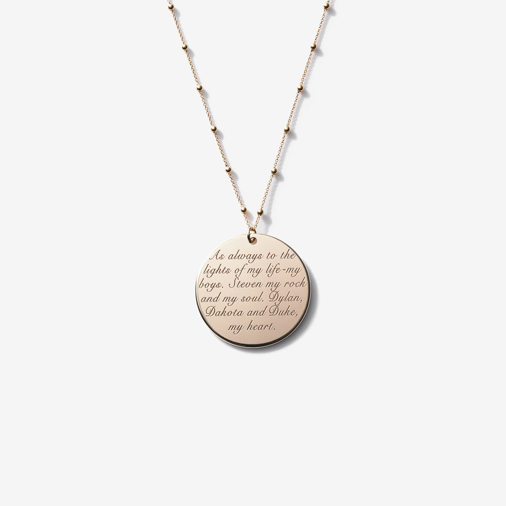 ENGRAVABLE CIRCLE NECKLACE