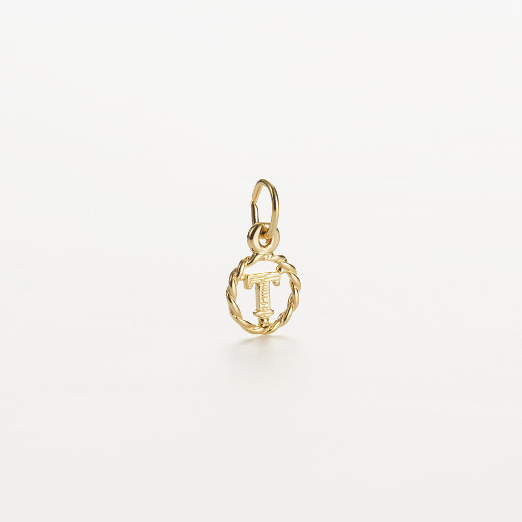 Letter T 9kt solid gold charm