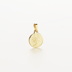Recreational Studio Solid Gold Round Scorpio