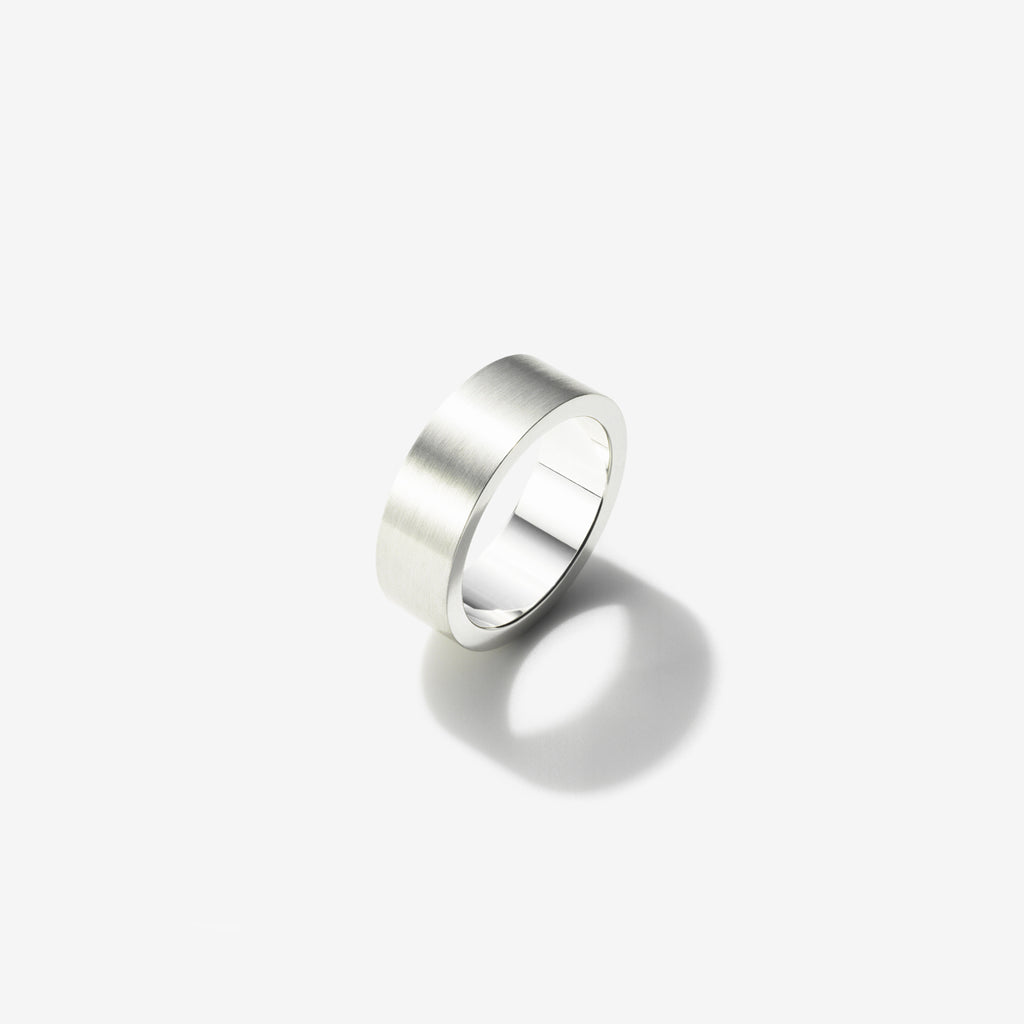 BRUSHED STERLING SILVER RING