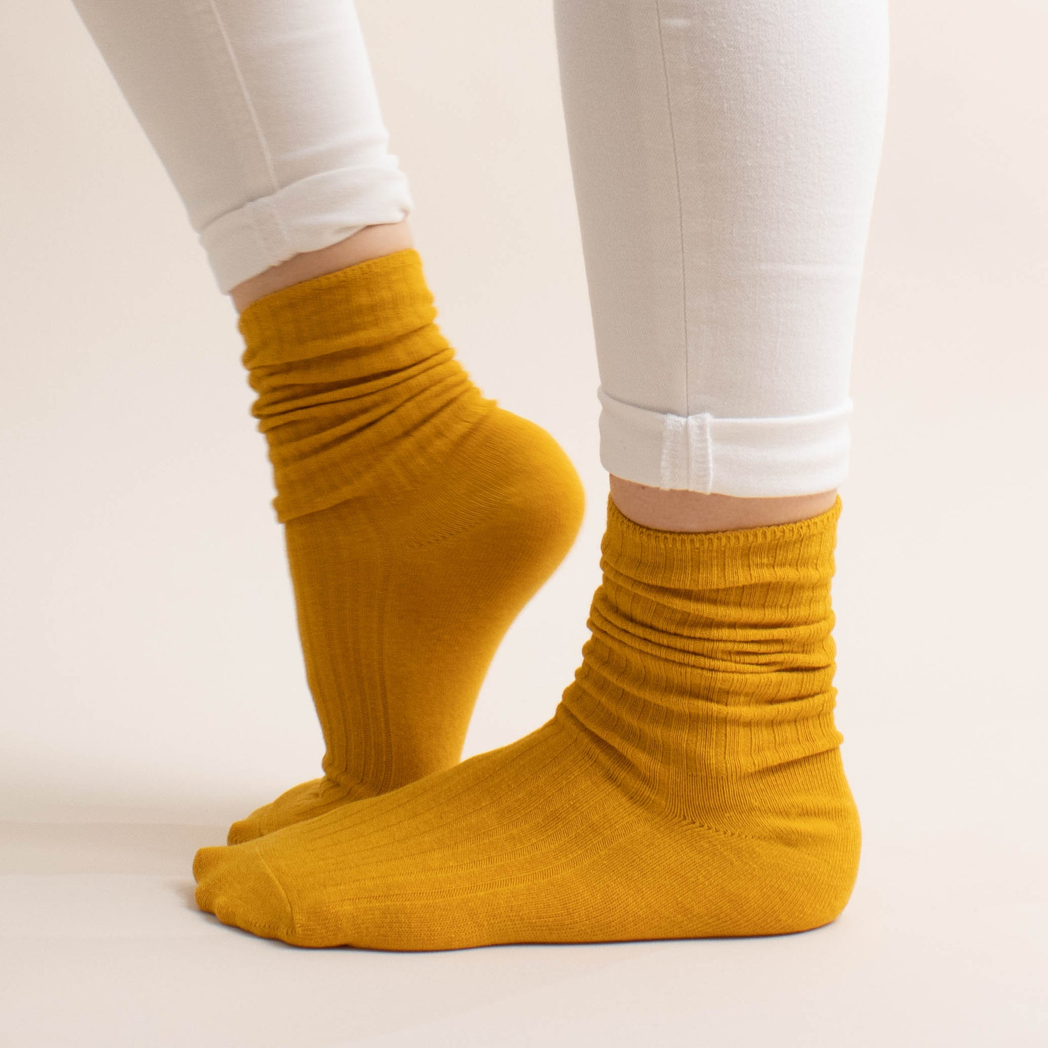 ribbed crew boot sock
