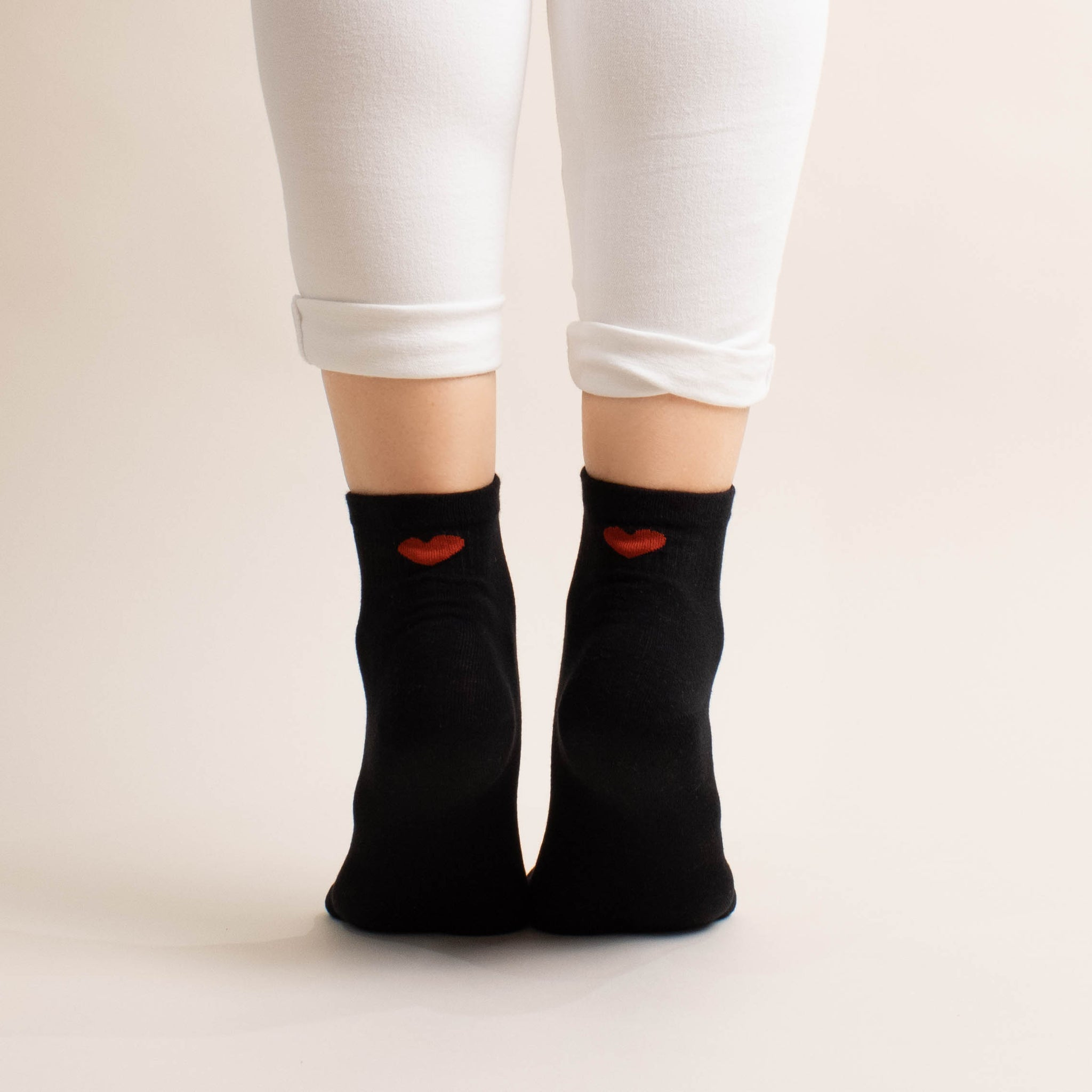 2 pack all hearts ankle sock