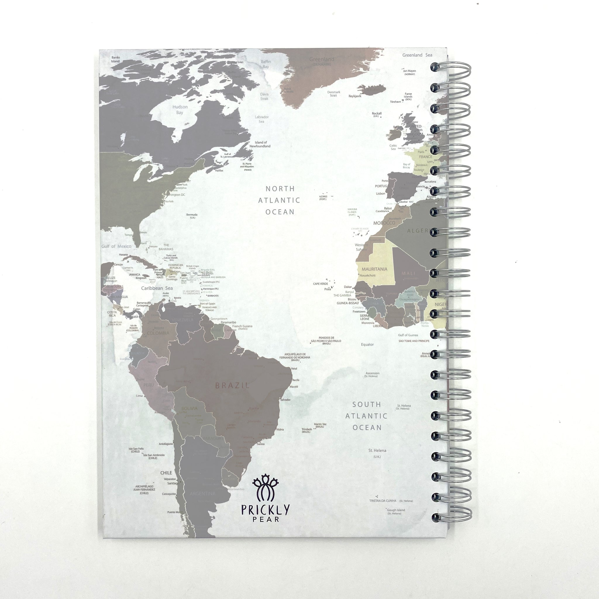 Map A4 Hardback Notebook