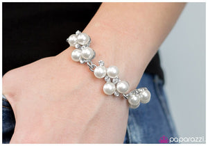 I Do White Blockbuster Paparazzi Bracelet - JewelTonez Jewelry