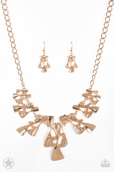 The Sands of Time Gold Paparazzi Necklace - JewelTonez Jewelry