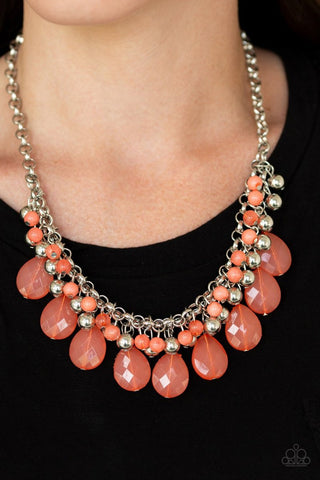 Trending Tropicana Orange Paparazzi Necklace - JewelTonez Jewelry