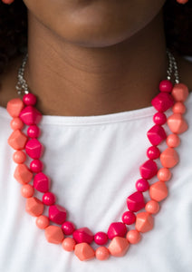Rio Rhythm Pink Coral Paparazzi Necklace - JewelTonez Jewelry