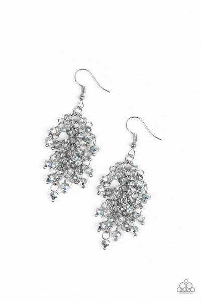 A Taste of Twilight Silver Paparazzi Earrings - JewelTonez Jewelry