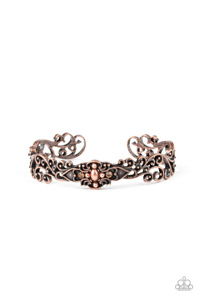 Victorian Vines Copper Bracelet - JewelTonez Jewelry