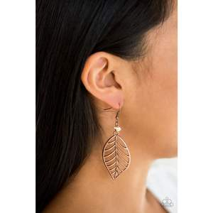 BOUGH Out Copper Paparazzi Earrings - JewelTonez Jewelry