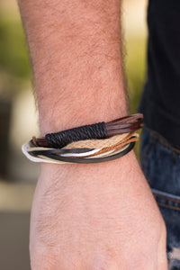 Forest Guide Brown Leather Urban Bracelets - Paparazzi Accessories Bracelet - Paparazzi Accessories