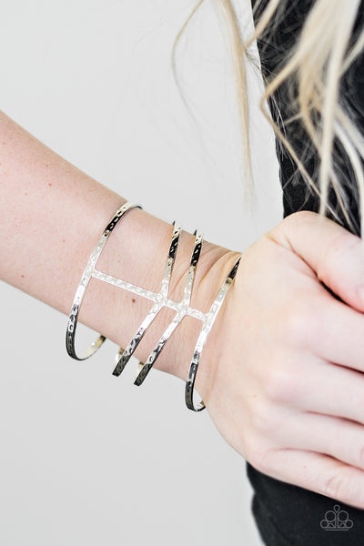 Stick Out A Nile Silver Paparazzi Bracelet - JewelTonez Jewelry