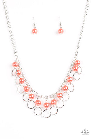 Run The Show Orange Paparazzi Necklace - JewelTonez Jewelry
