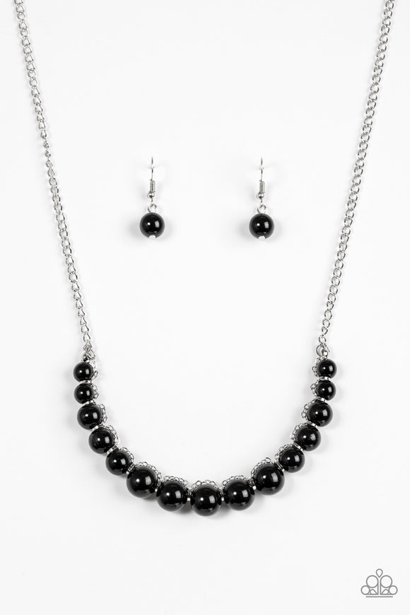 The FASHION Show Must Go On! - Black Necklace set - Paparazzi Jewelry Necklace set