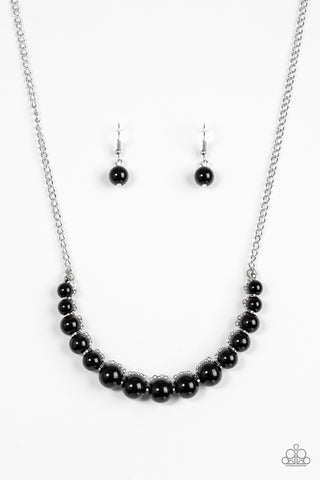 The FASHION Show Must Go On! Black Necklace - Paparazzi Accessories Necklace set - Paparazzi Accessories
