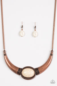 Paparazzi Cause A STEER - Copper Necklace set - Paparazzi Jewelry Necklace set