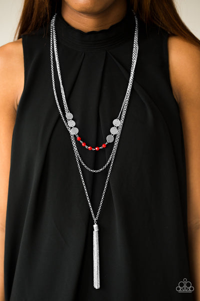 Celebration of Chic Red Paparazzi Necklace - JewelTonez Jewelry