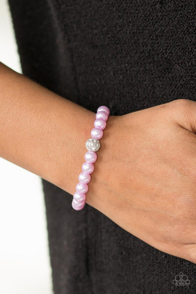 I'm Here For The Bride Purple Pearl Bracelet - Paparazzi - JewelTonez Jewelry