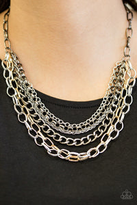 Word On The Street Multi Paparazzi Necklace - JewelTonez Jewelry
