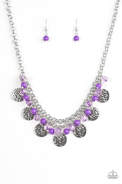 Beachfront Babe Purple Paparazzi Necklace - JewelTonez Jewelry