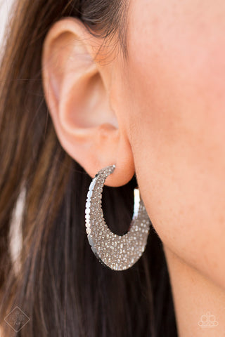 Country Cobblestone Silver Paparazzi Earrings