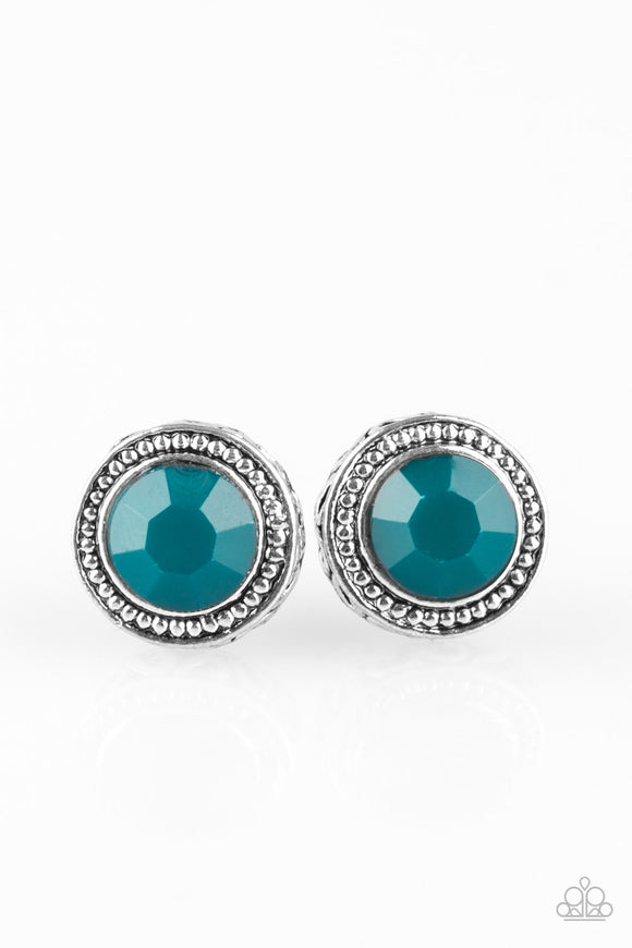 Sweet and Simple - Blue Earrings - Paparazzi Jewelry Earrings