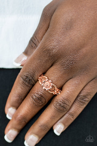 Galapagos Gardens Copper Floral Paparazzi Ring - JewelTonez Jewelry