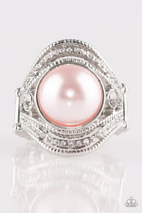 Quite Queen Mary Pink Ring - Paparazzi - JewelTonez Jewelry