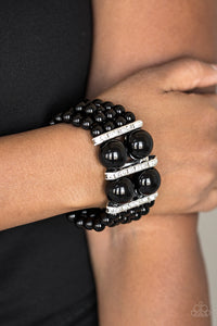 Romance Remix Black Paparazzi Bracelet - JewelTonez Jewelry