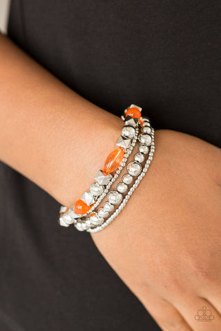 Babe-alicious Orange Paparazzi Bracelet