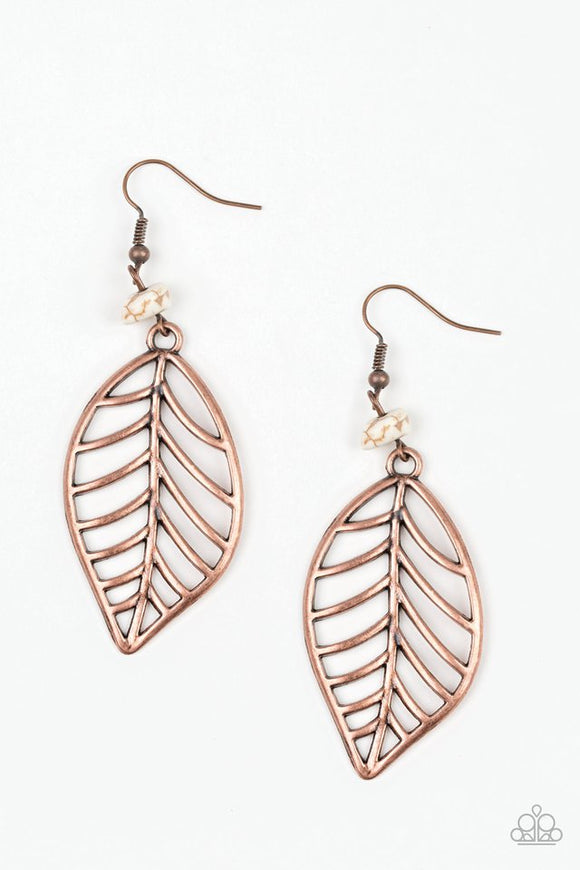 BOUGH Out - Copper Earrings - Paparazzi Jewelry Earrings Earrings - Paparazzi Accessories