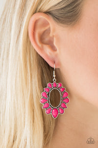 Fashionista Flavor Pink Paparazzi Earrings - JewelTonez Jewelry